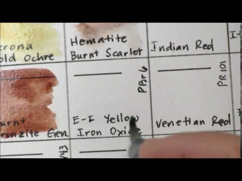 Daniel Smith Watercolor Dot Charts Browns And Earth Colors Part 1
