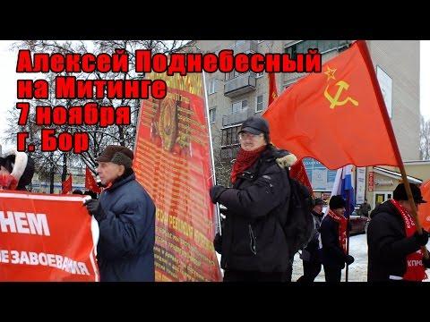 Алексей Поднебесный на митинге 7 ноября, г. Бор