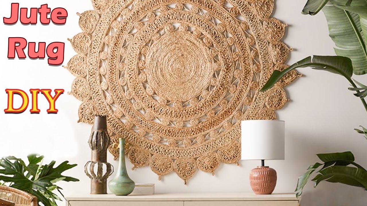 Jute Carpet Making Tutorial Diy