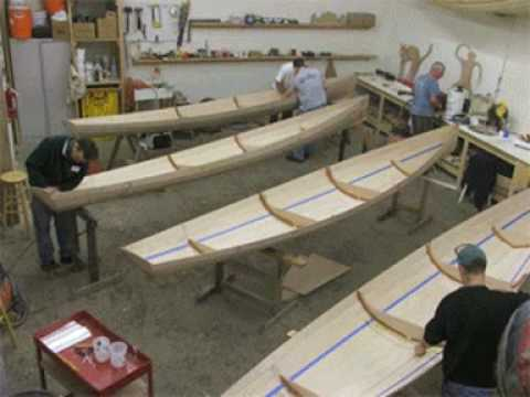 Building Annapolis Wherries at Chesapeake Light Craft: Stitch and Glue Boatbuilding - YouTube