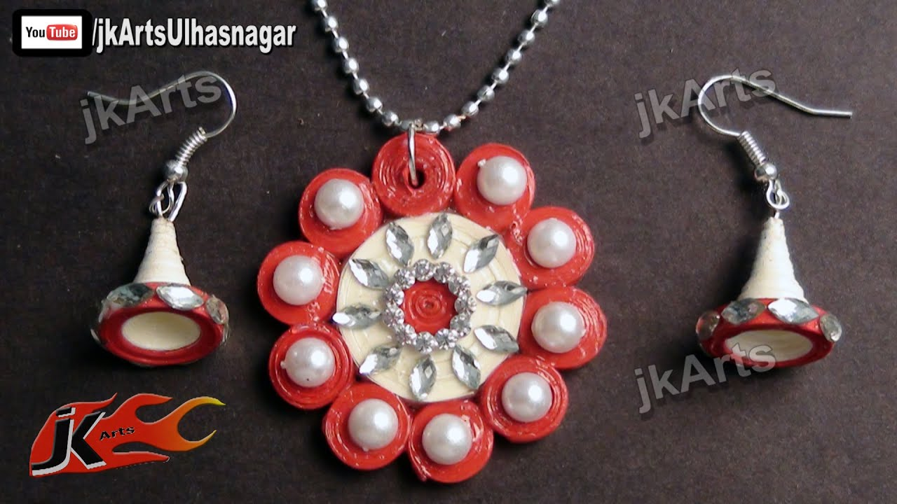 DIY Paper Quilling Jewelry Set | How to make | JK Arts 372 - YouTube
