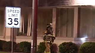 (RAW VIDEO) Naperville,IL Fire Department Box Alarm-Fire Thru The Roof of Restaurant
