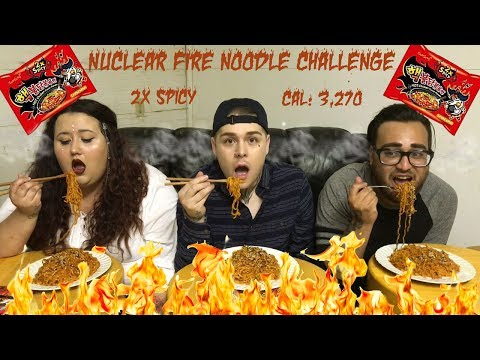Mukbang - NUCLEAR FIRE NOODLES CHALLENGE! (2x Spicy) 🔥