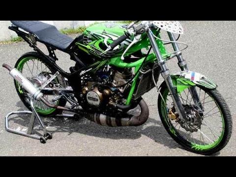 Video Modifikasi Motor Kawasaki Ninja R Modif Drag Style Airbrush Keren Terbaru