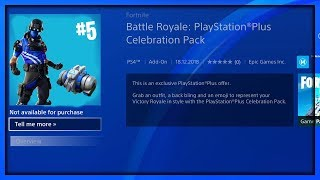 "The New ""PLAYSTATION PLUS CELEBRATION PACK #5"" in Fortnite! (New Free Playstation Plus Rewards)"