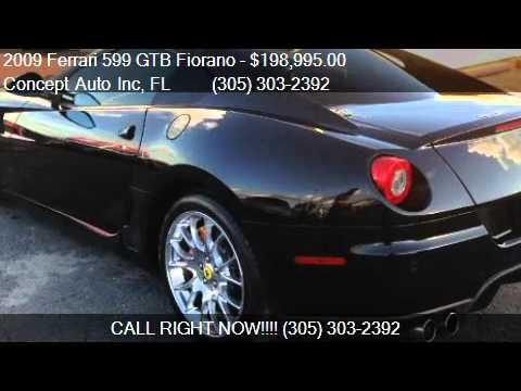 2009 Ferrari 599 GTB Fiorano Coupe F1 - for sale in Miami, F