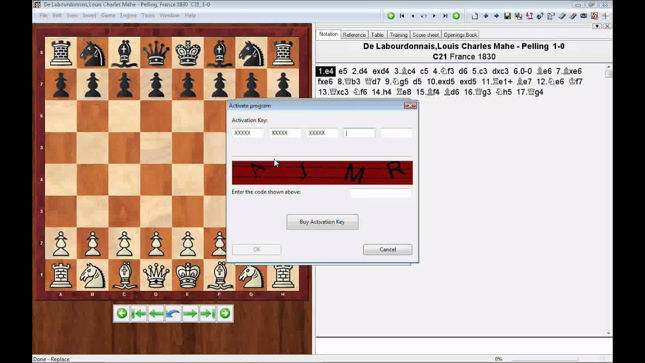 ChessBase Light 2009 - how to activate the software using a purchased  activation key