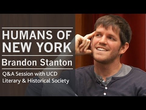On New York City | HONY creator Brandon Stanton at UCD, Dublin, Ireland