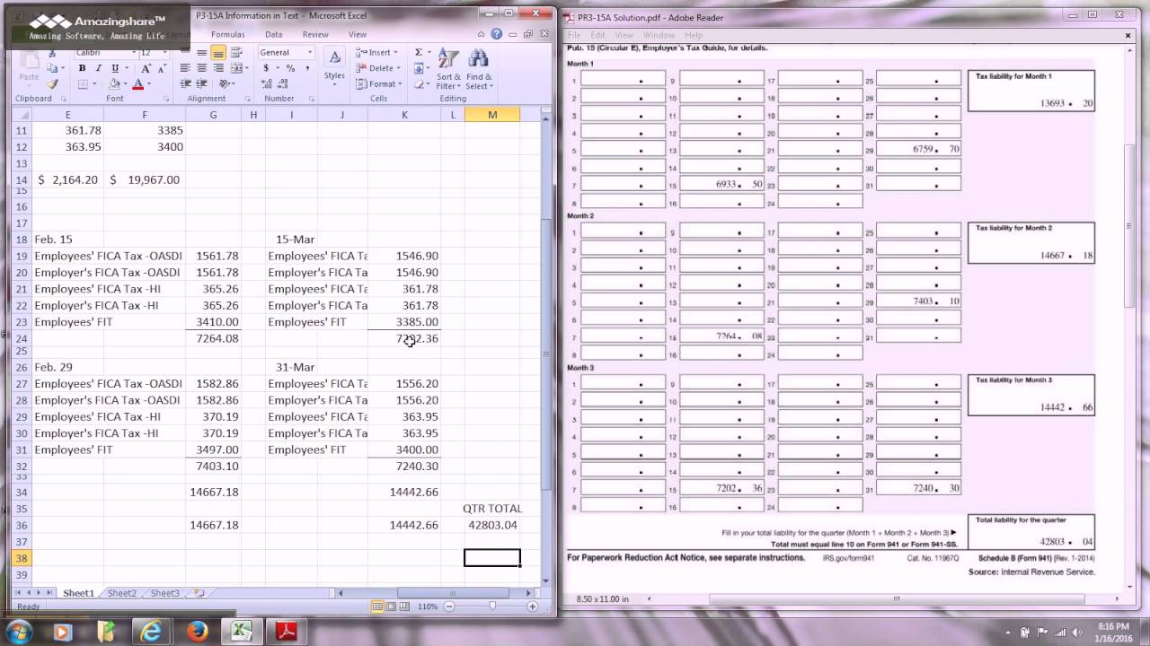 Form 941 Schedule B - YouTube