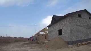 МПС Алматы. Дом с мансардой, крыша закрыта-окна заказаны.