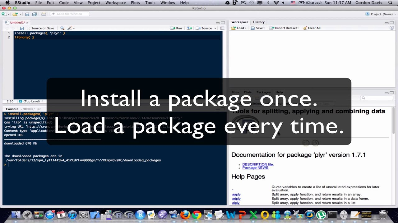 R Programming Tutorial Lesson 15: Packages