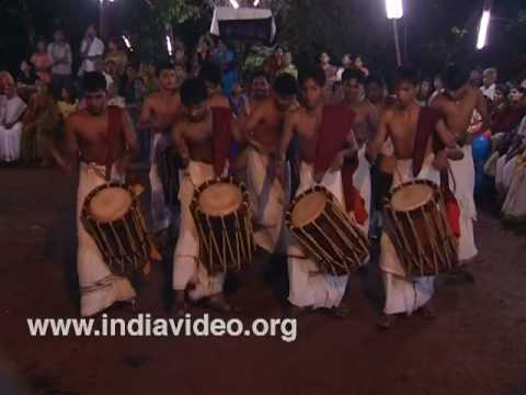 Drum Ensemble at Sree Thayyil Vayanattu Kulavan Temple, Kannur