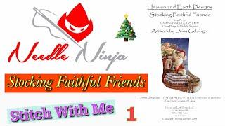 Flosstube #34 / HAED Christmas Stocking / Stocking Faithful Friends / Stitch with me