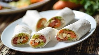 Chicken Burritos  -  How To Make - Mexican Recipes