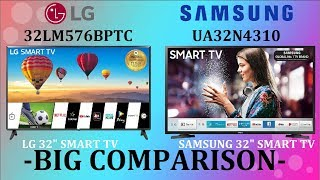 LG 32LM576BPTC Vs SAMSUNG UA32N4310 SMART Tv Big Comparison | Which One Is Better For You