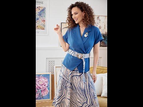 Летний женский костюм Мода-Юрс 2641 sinij swetlyj