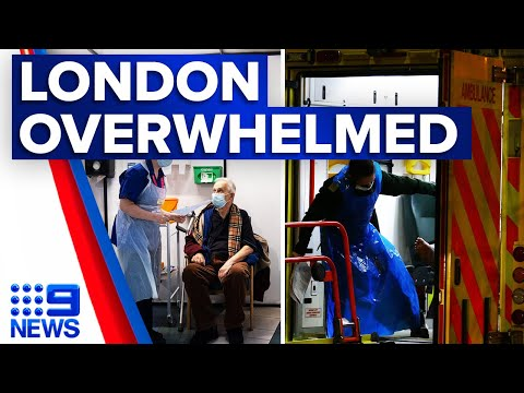 Coronavirus: Patients threaten to overwhelm UK health system | 9 News Australia thumbnail