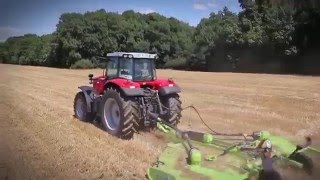 Schulte FX-1800 Rotary Cutter Cutting Wheat Stubble in France