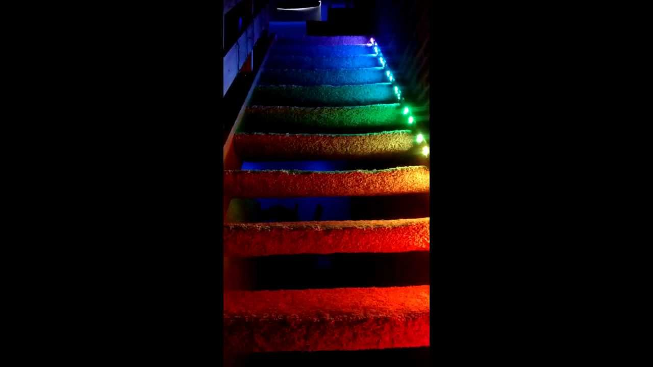 Lighting Basement Washroom Stairs: StairLights: An Arduino Stair Lighting Project