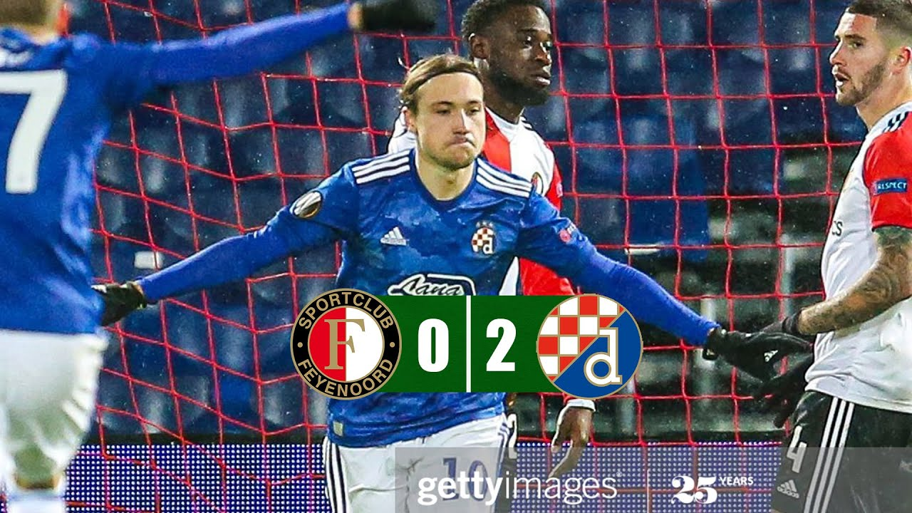 Feyenoord Vs Dinamo Zagreb 0 2 All Goals Highlights 03 12 2020 Youtube