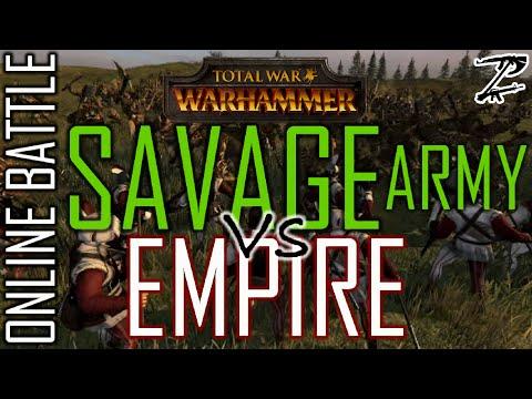 SAVAGE ARMY vs EMPIRE! - 1v1 Online Battle Total War: Warhammer |