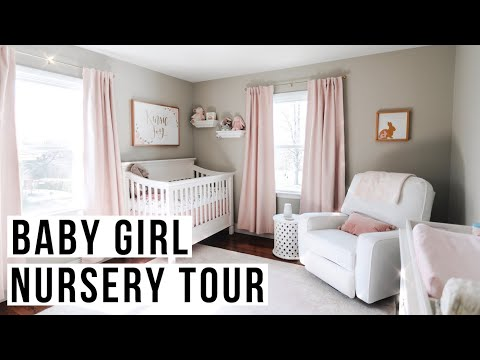 BABY GIRL NURSERY TOUR   Pink, Floral + Feminine