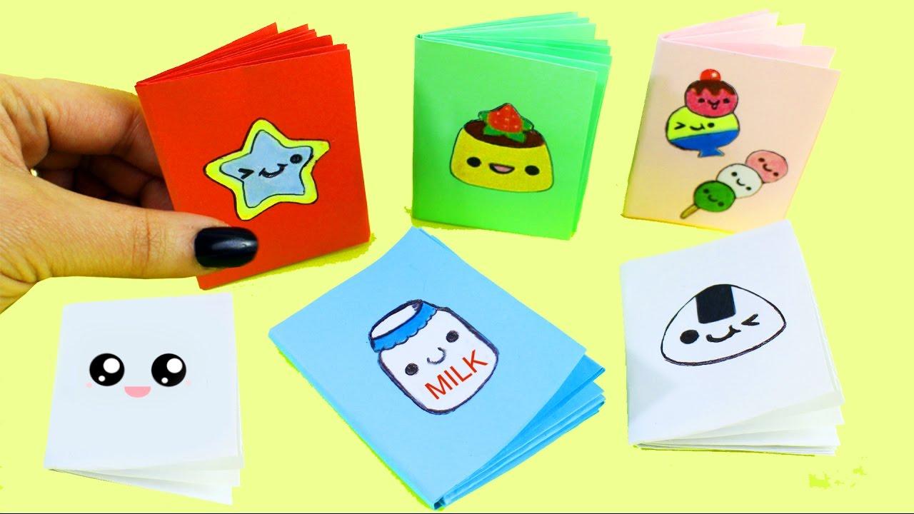 7d1c868c0d74 DIY MINI CUADERNOS / LIBRETITAS - 1 hoja de papel, sin pegamento -  Manualidades de papel en 1 minuto