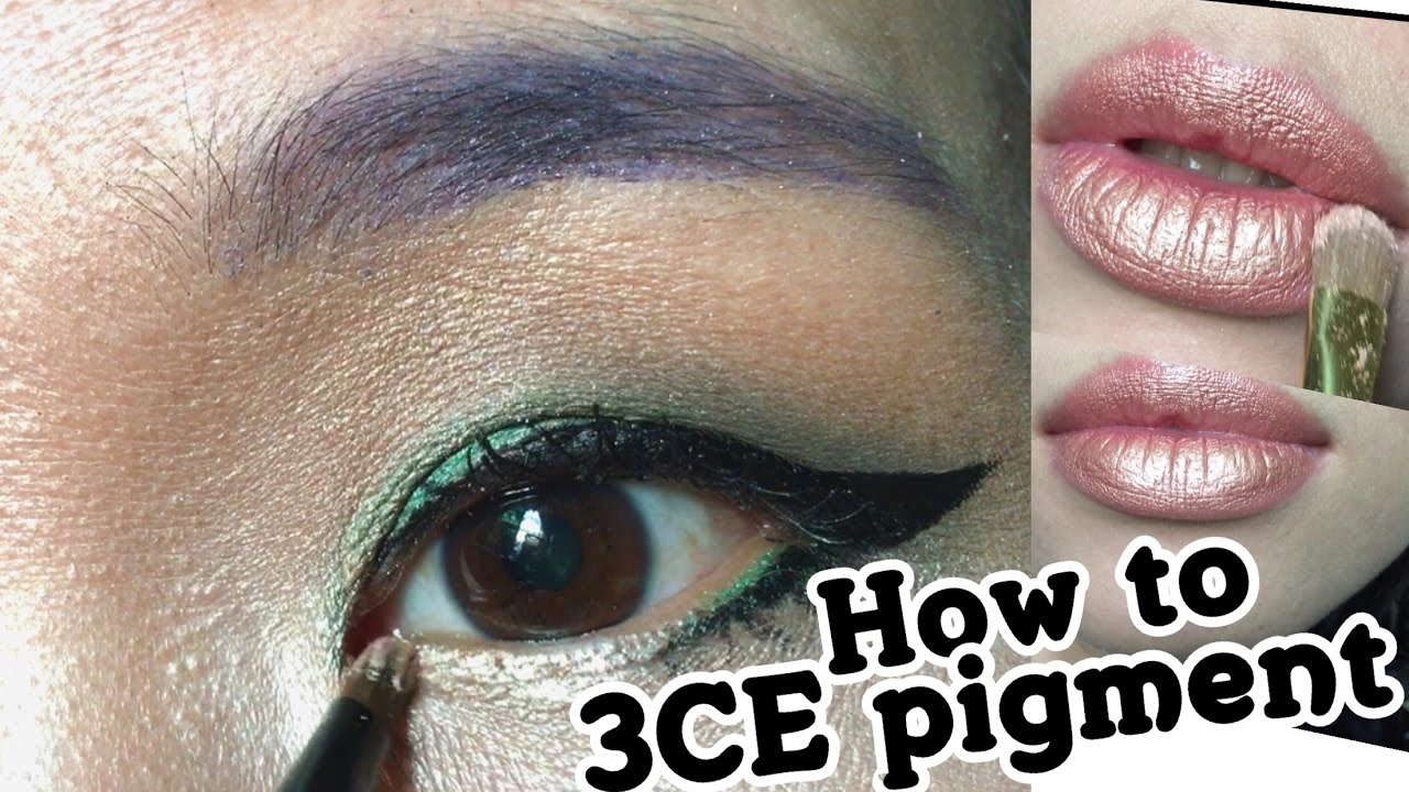Diy Metallic Lips Make Up Tutorial ( How To Use Loose Pigment )