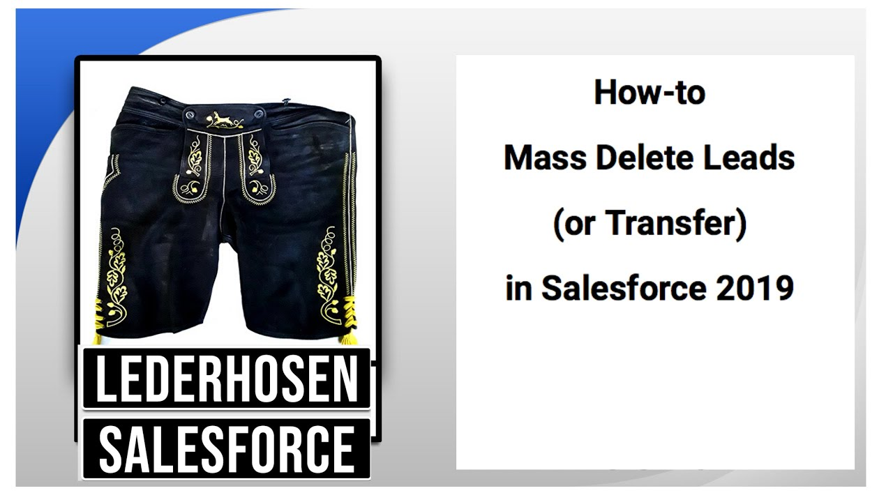 How-to Mass Delete Leads (or Transfer) in Salesforce 2019