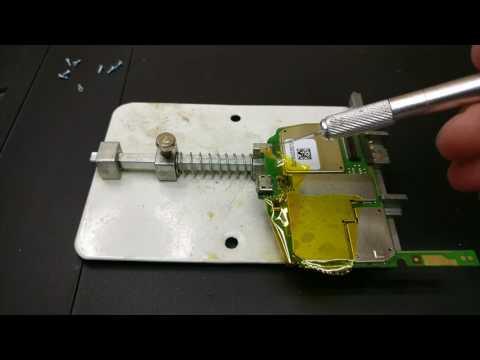 #4 Олово-Флюс. ALCATEL ONE TOUCH ALCATEL 997D замена разъема MICRO-USB. 997D Micro-usb replacement.