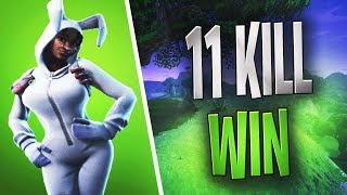 FORTNITE - Bunny brawler - 11 kill Disconect Duo WIN - 2018 easter skin