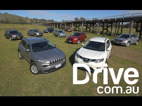 CX 5 v CR V v ix35 v X Trail v Kuga v RAV4 v Cherokee v Forester v Sportage Drive.com.au