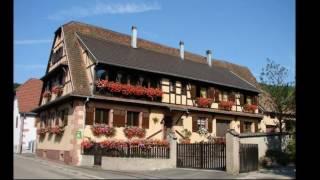 Albé, entouré par les hauteurs de l'Ungersberg en Alsace