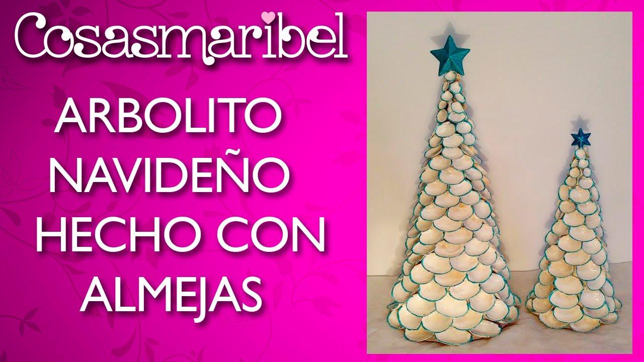 Adornos navide os arbolito hecho con almejas reciclaje for Adornos navidenos hechos con reciclaje