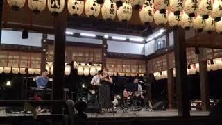 八坂神社の舞殿で開催された京の七夕『夕涼みコンサート in 八坂神社 』...
