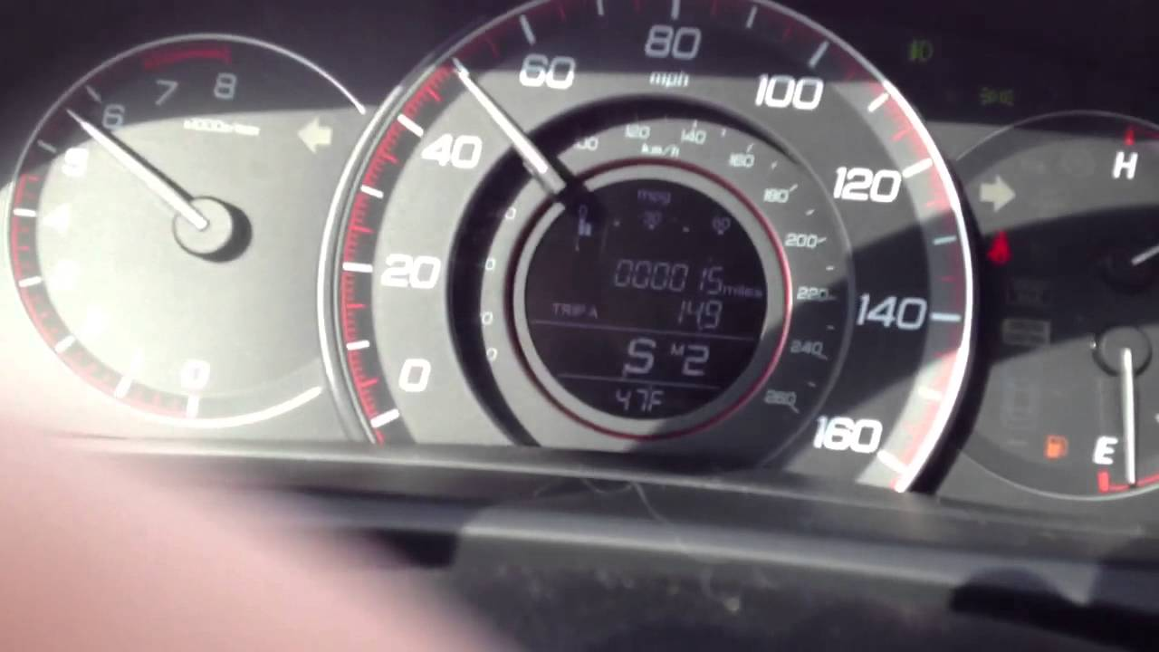 honda accord  coupe  mph  paddle shifters youtube