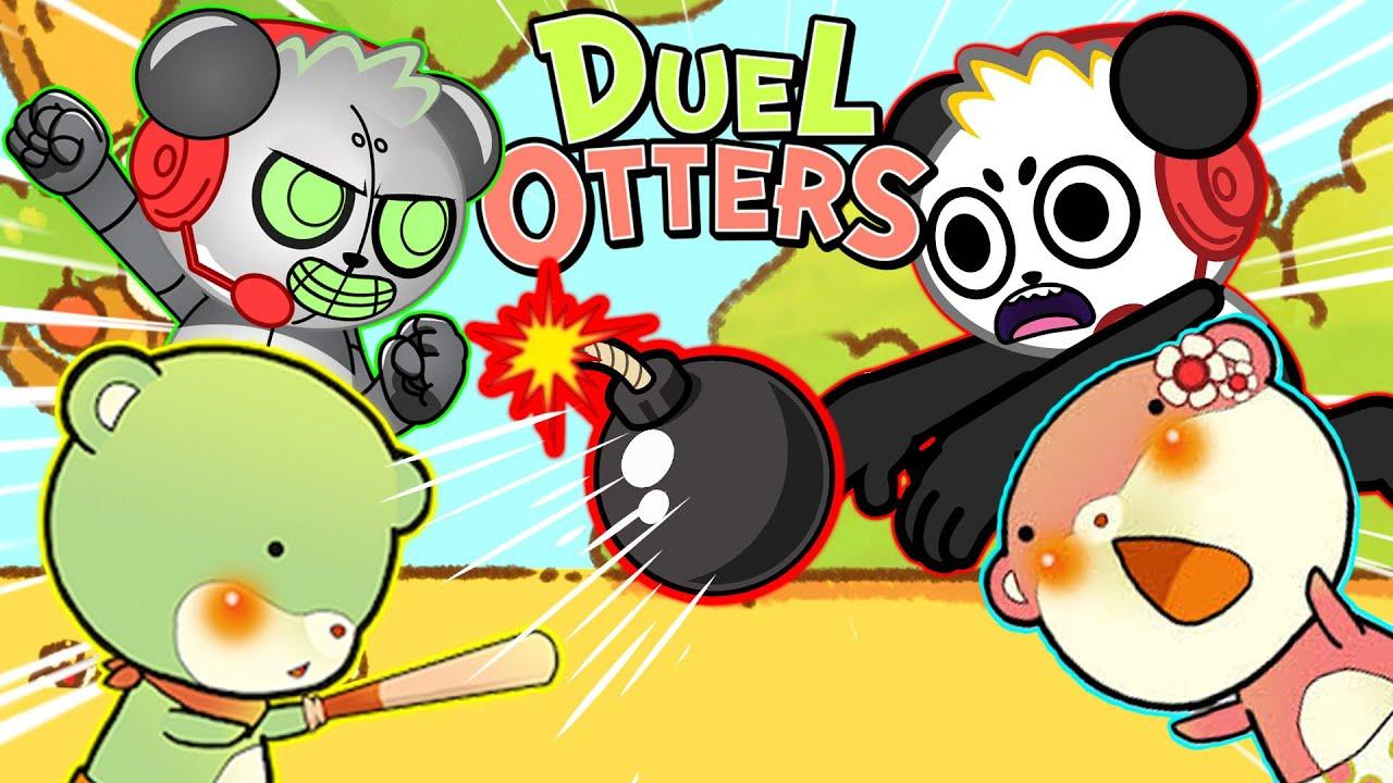 Otter vs Otter CHALLENGE! Robo Combo VS Combo Panda! Let's play Dual Otters!