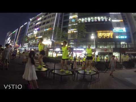 Jumping Korea Trampolene Performers