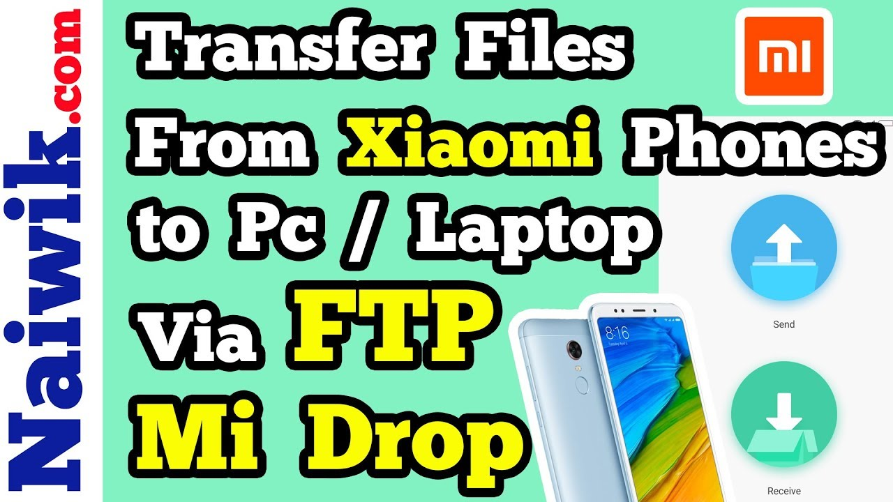 transfer files from xiaomi redmi phones to pc laptop wirelessly