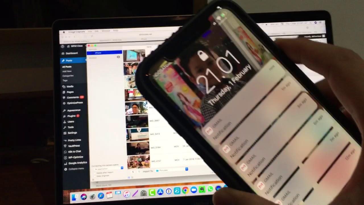 Cara Memindahkan File Photo Video Dari Iphone Ke Laptop Mac Anda Youtube