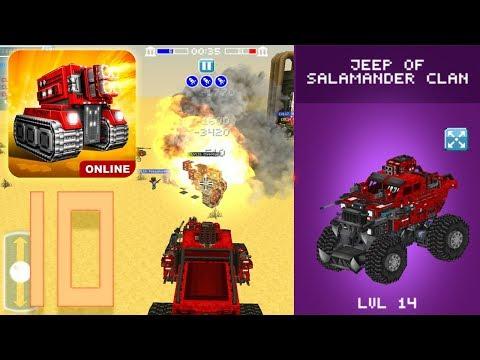 Blocky Cars Online - Jeep Of Salamander Clan (Gameplay Part 10)