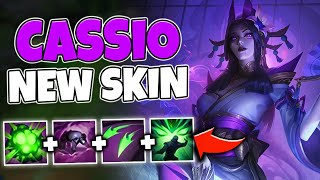 WTF?! NEW CASSIO SKIN SHOOTS PURPLE SPIT! SPIRIT BLOSSOM IS AMAZING - League of Legends