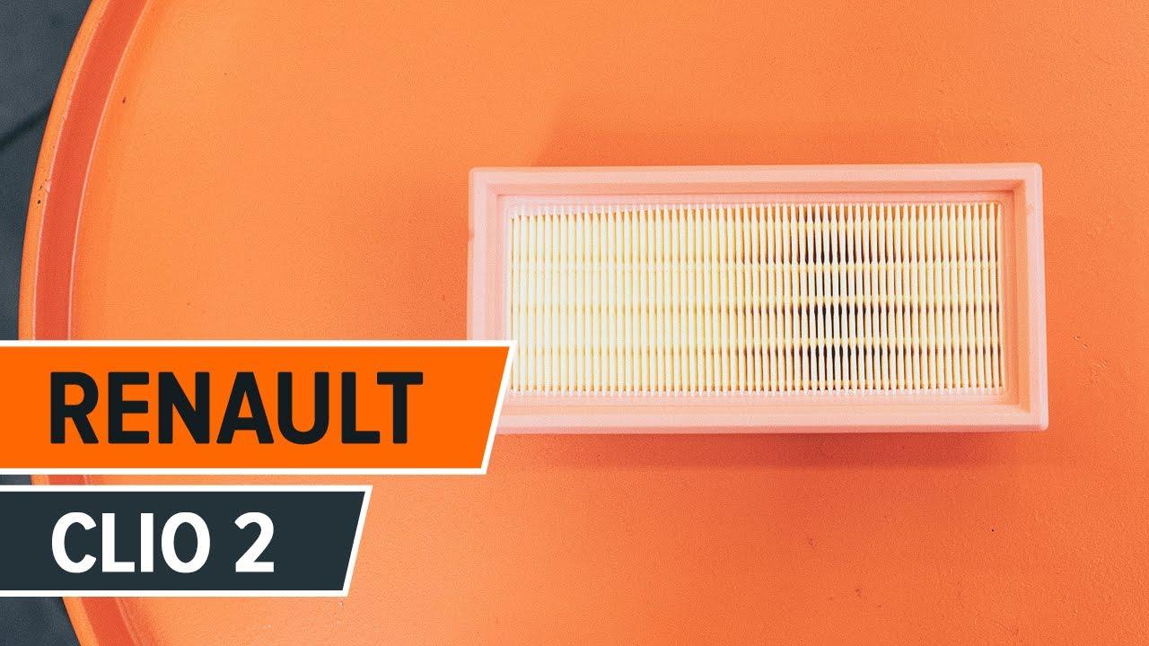 Instrucción: Cómo cambiar Filtro de aire en RENAULT CLIO 2