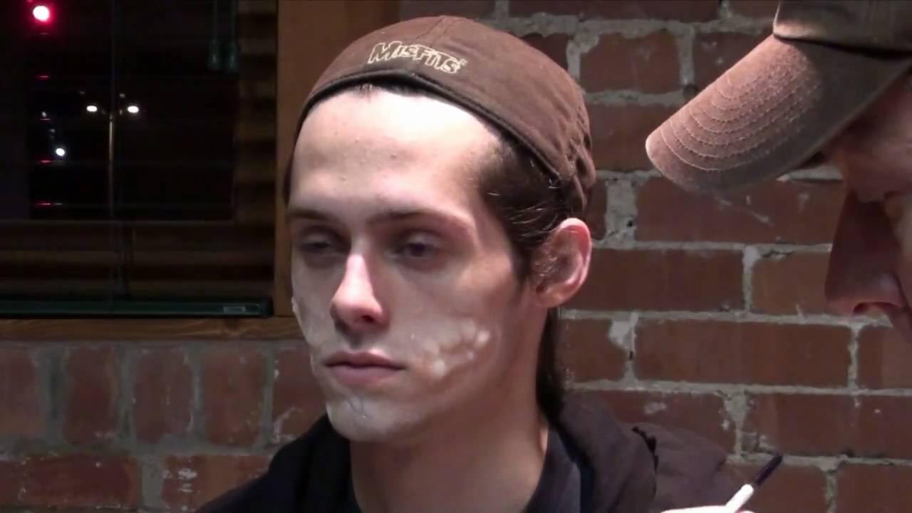 Applying Platinum Silicone Joker Scars Youtube - Joker-no-makeup-ics