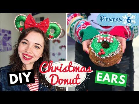 🍩🎄 DIY Christmas DONUT Minnie Mouse Ears 🎄🍩 | Pinsmas Day 6