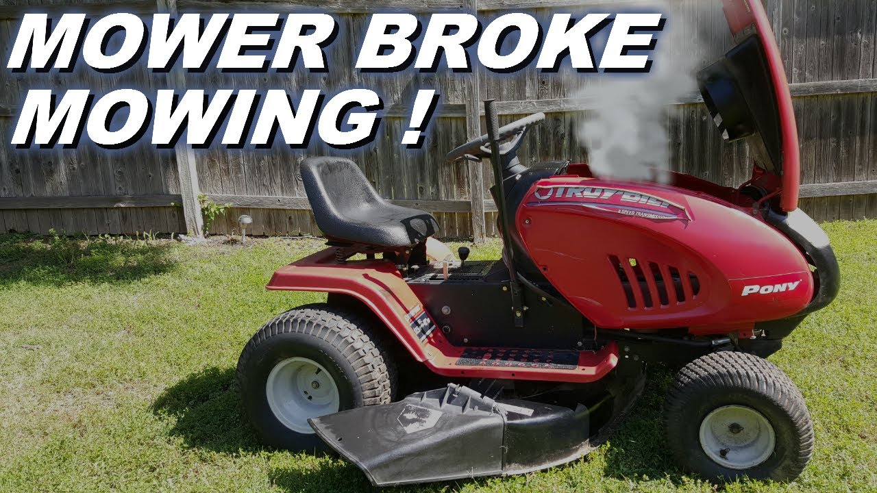Lawnmower engine stopped and broke while mowing now it won't start let's take it apart