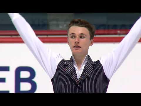 Josh BROWN GBR Men Free Skating - Zagreb 2017