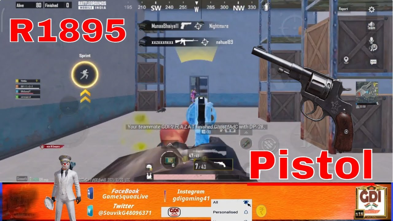 KING OF Pistol R1895 || BGMI (Battleground Mobile India)