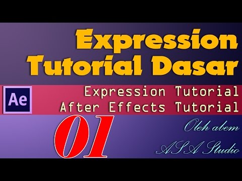 Expression Tutorial Dasar, 1, Source Text, After Effects Tutorial