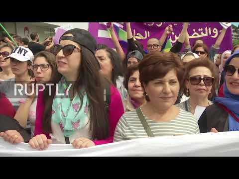 Lebanon: Thousands gather for Women's Day March in Beirut